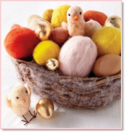 Felted Easter Eggs & Chicks