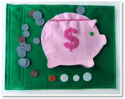 1Piggy Bank Quietbook Pattern