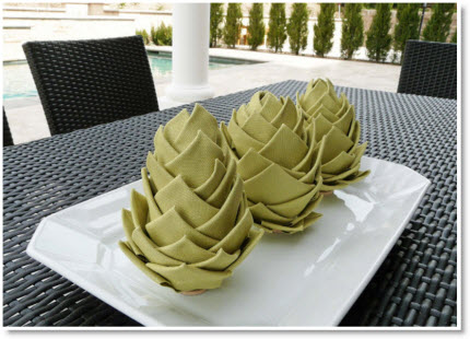 Fabric Artichokes from Light Bulbs