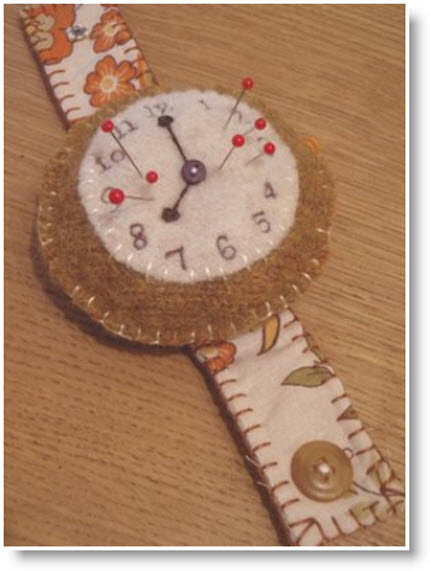 wrist watch felt pin cushion