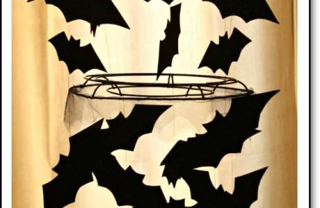 Halloween Bat Chandelier