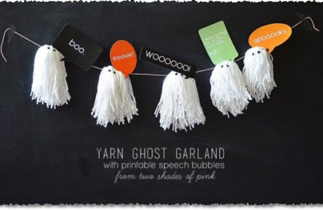 Yarn Ghost Garland Tutorial