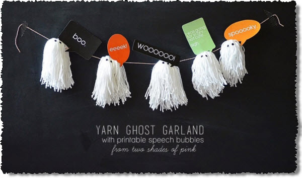 Yarn Ghost Garland Tutorial