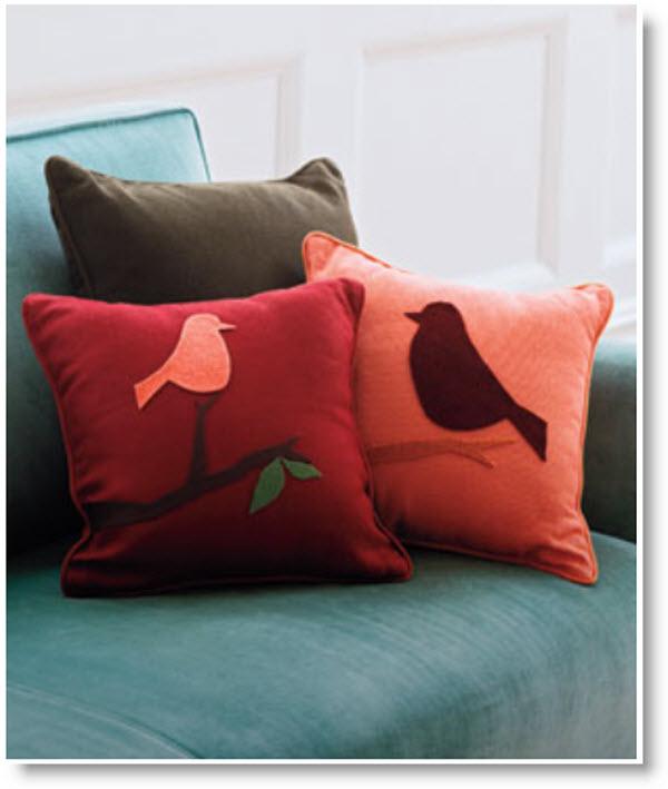 Cheep Chic DIY Bird Pillows DIY
