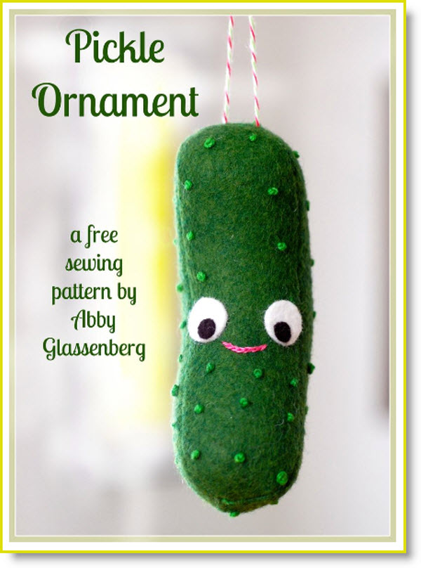 Free Christmas Pattern: Pickle Ornament ? Felting