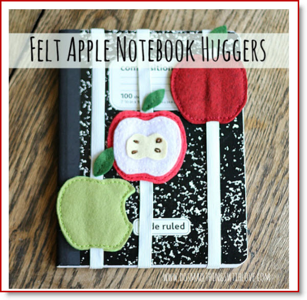 Felt Apple Notebook Hugger