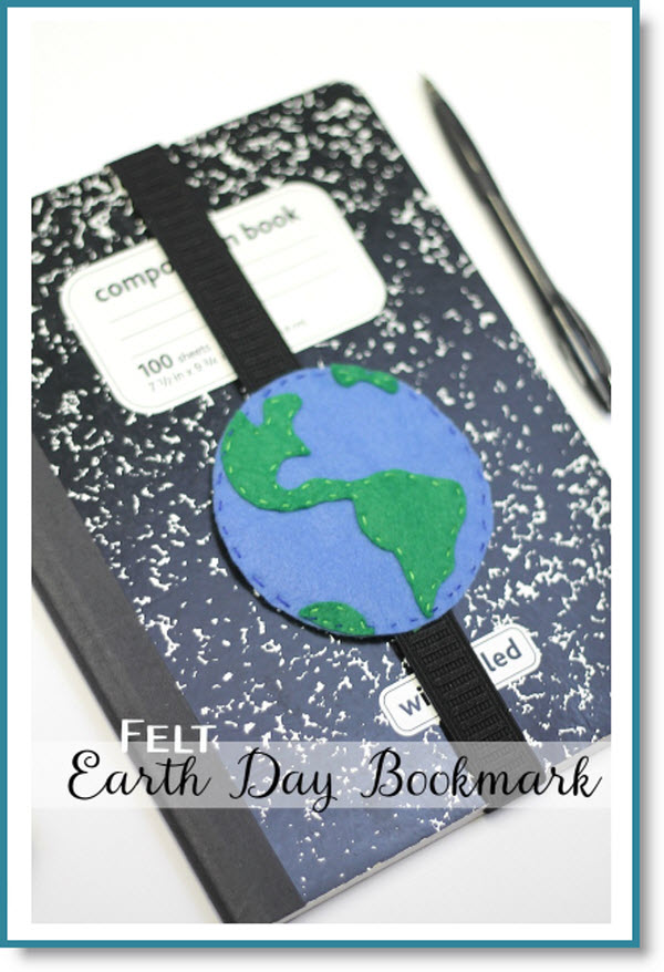 Felt Earth Bookmark