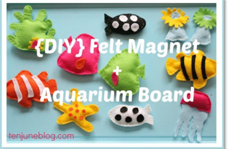 {DIY} Felt Magnets + Aquarium Magnet Board