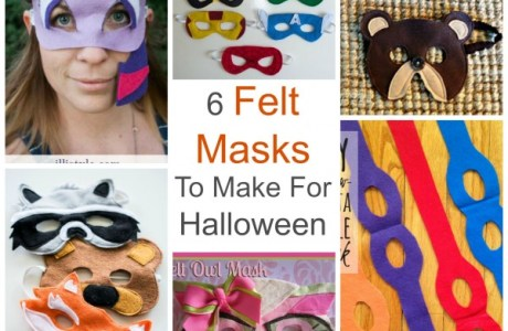 6 Felt Masks To Make For Halloween