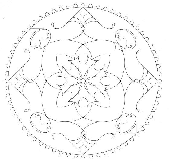 Mandala para vivir con gratitud