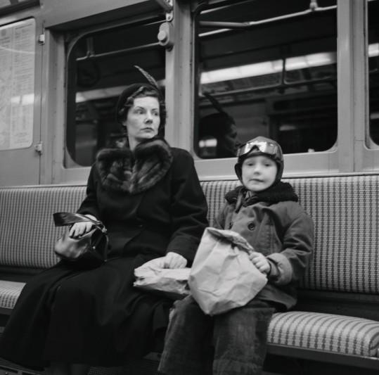 Subway Mom 1947 © Martin Elkort