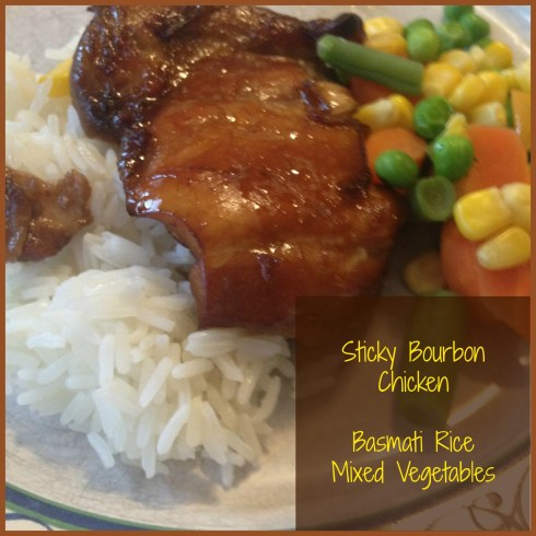 Sticky Bourbon Chicken by Pinch of Yum