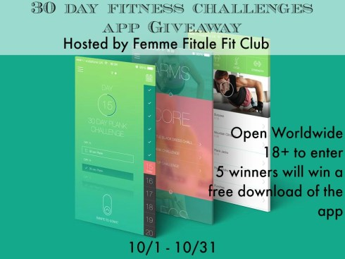 30 Day of Fitness Challenges App Giveaway