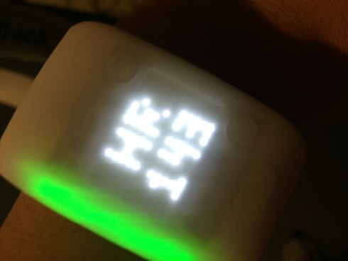 Adidas miCoach Fit Smart green heart rate zone