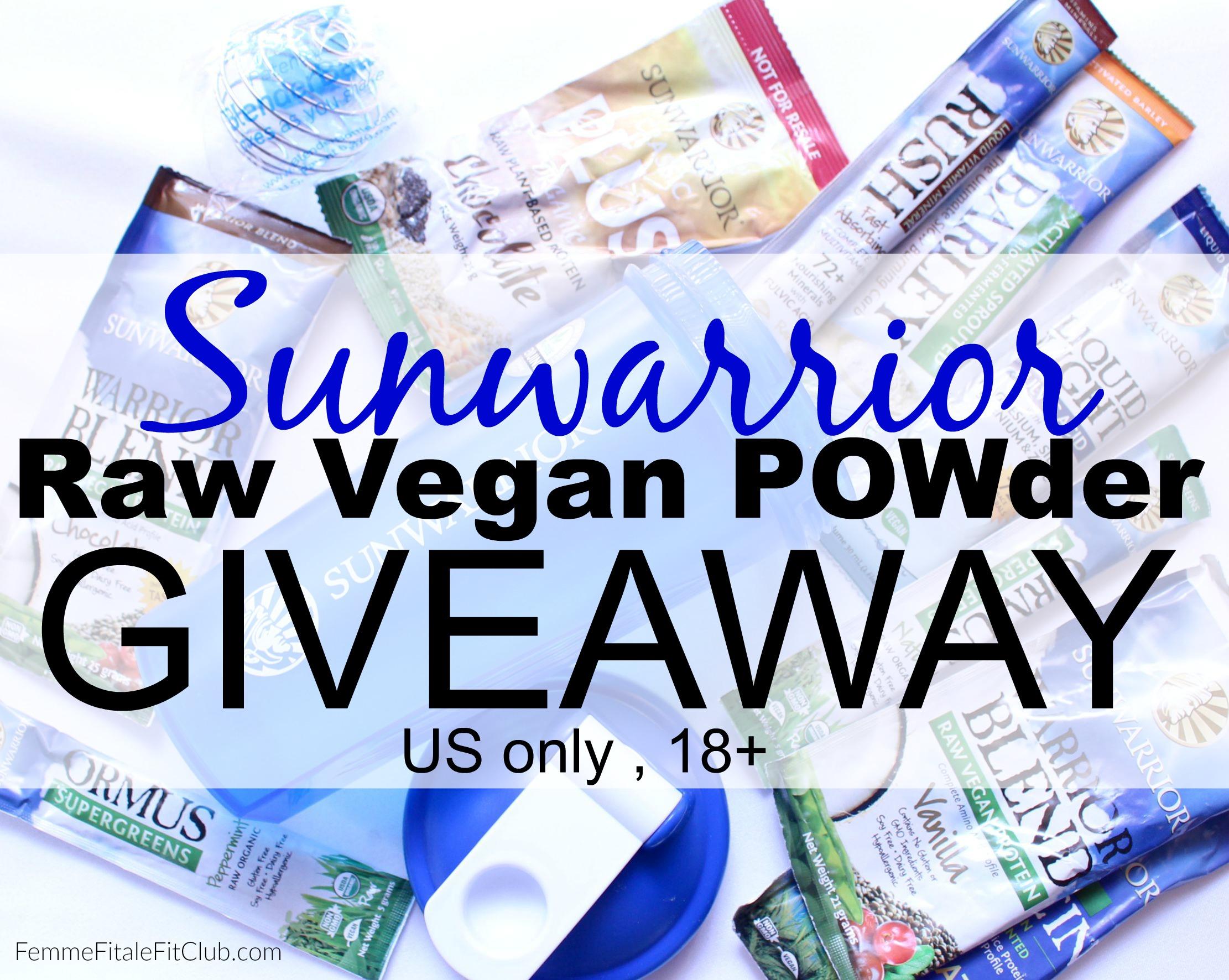 Sunwarrior Raw Vega Powder Giveaway