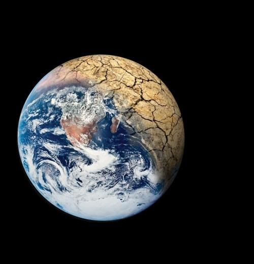 Tierra  Resquebrajada por Cambio Climático