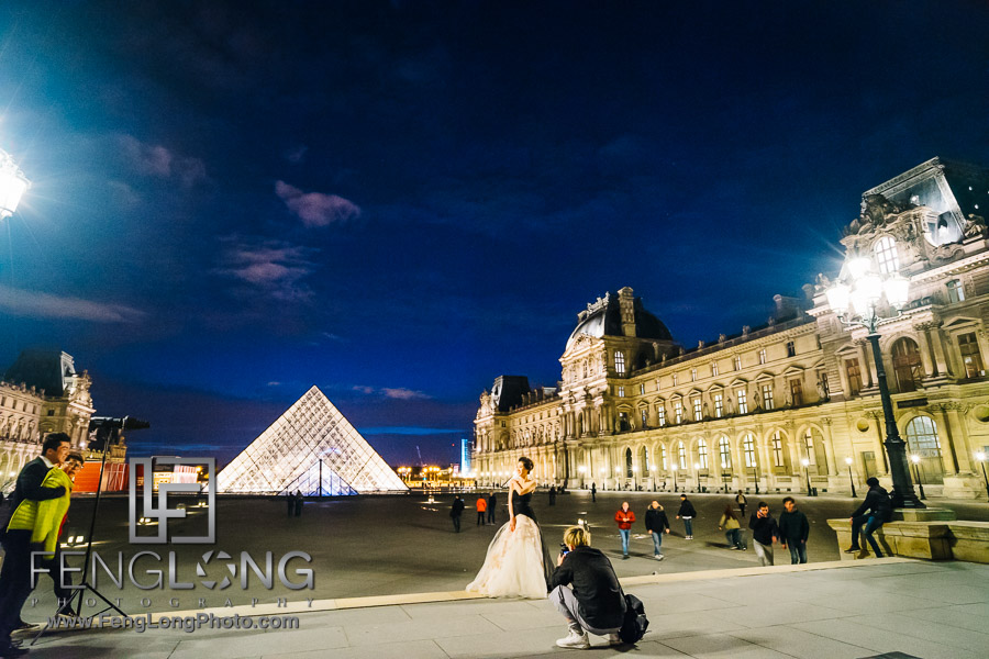 Paris PreWedding Photo Vacation at Lourve 2016
