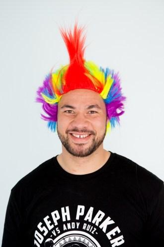 Joseph Parker dons a wig! (1)
