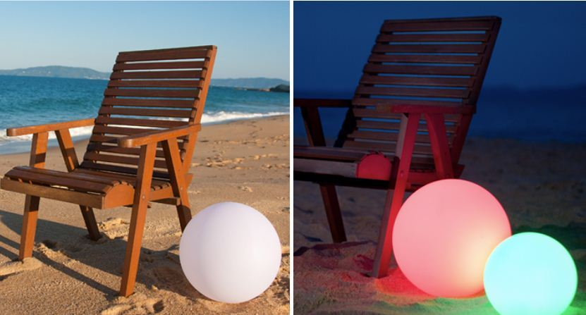 Lighting has the ability to change the atmosphere of any space. Top Secret has a full range of LED spherical lights that can float on water, are solar powered and that can change colour.