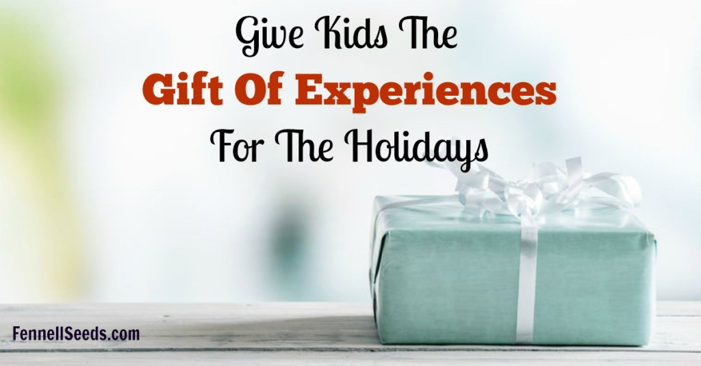 Have too many toys? Hate the clutter? Give kids the gift of experiences. It was easy to find lots of option for kids or all ages, even teenagers.