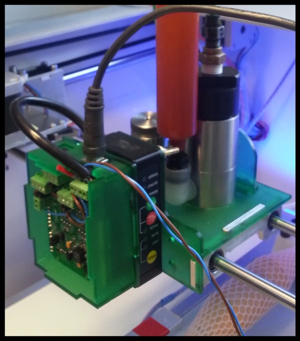Laser scanner and control circuitry mounted to print head