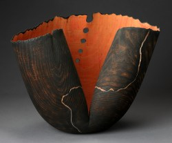 "David Ellsworth, ""Regaq, from the Solstice Series"" 1991, white ash, 17 x 24 x 12""."