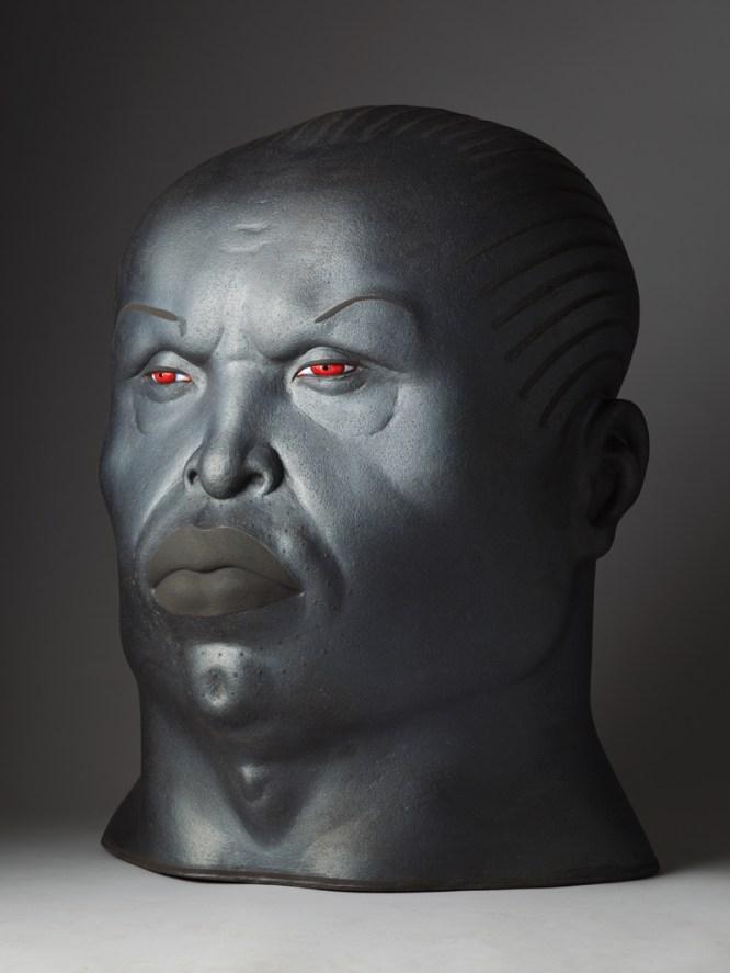 "Sergei Isupov, ""King"" 2013, ceramic, 30 x 23 x 19""."