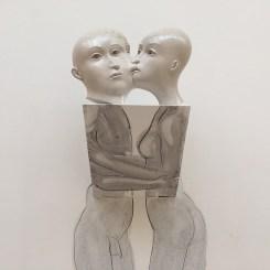 """Sergei Isupov, """"Kisses on Saturn"""" 2008, 6.5 x 10 x 3.5""""."""