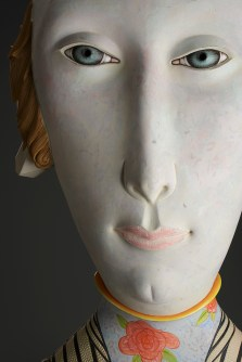 "Sergei Isupov, ""Hair On"" detail, 2006–2015, porcelain, slip, glaze, 36 x 17 x 11""."