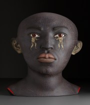 """Sergei Isupov, """"The Boxer"""" 2009, stoneware, stain, glaze, 26.5 x 24 x 17""""."""