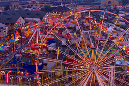 New York State fair carnival midway night