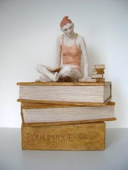 BOULIMIQUE - Terre cuite polychrome (31*26*20cm)