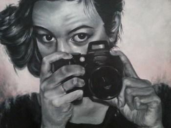 La PHOTOGRAPHE - Huile sur toile (100*80cm) (2015)