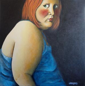 TOURMENTE - Acrylique sur toile (80x80)