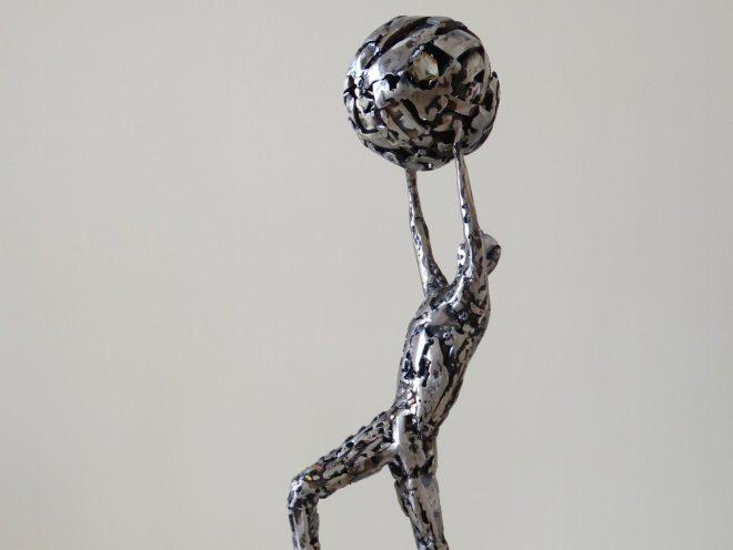 Le Renouveau -métal, inox et cuivre (67*25*24 cm) (2016)