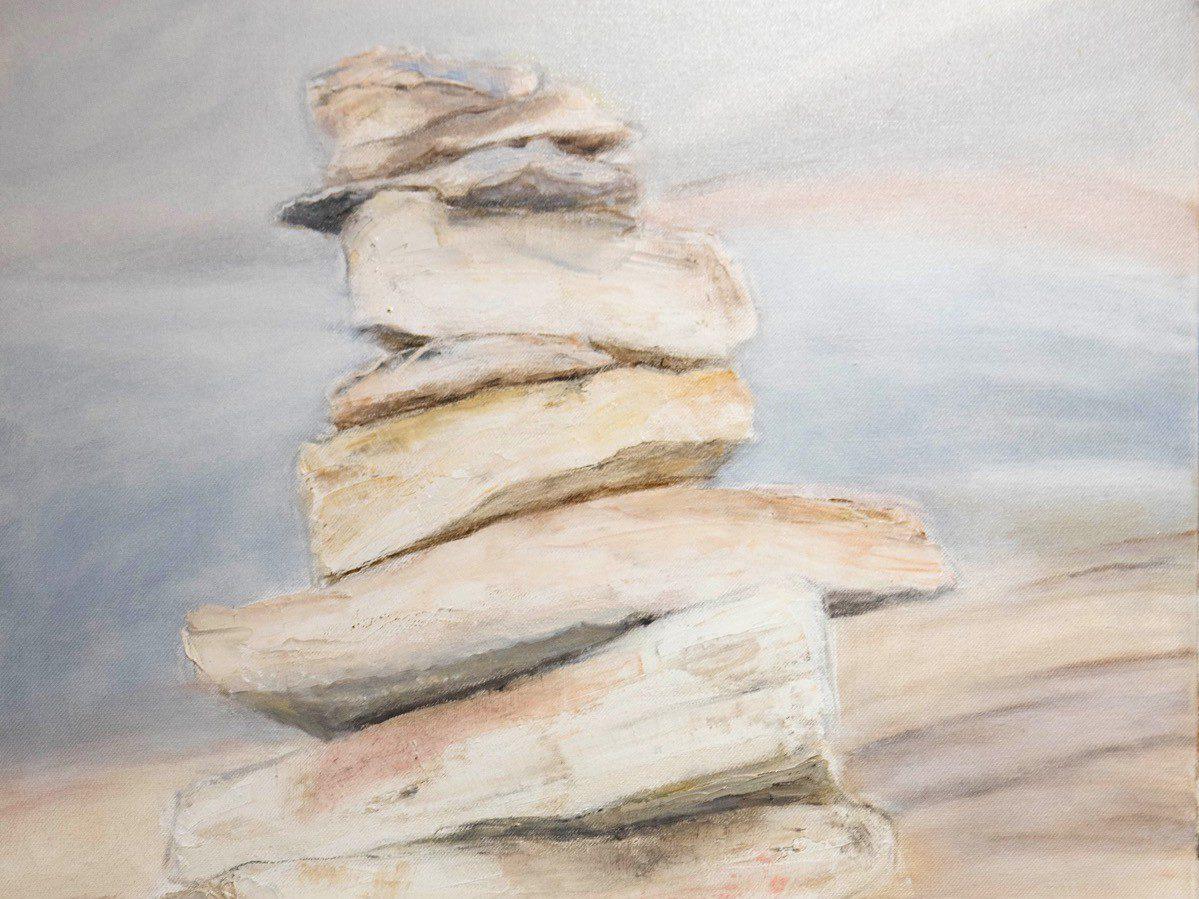 CAIRN - Huile sur toile (100*50cm)
