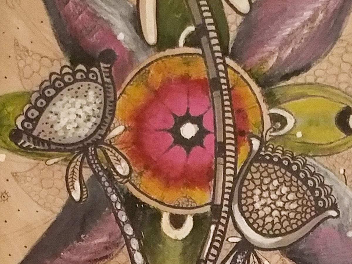 Plantier-Confiance en Soi 1-Acrylique et Pigments Naturels-100x25cm