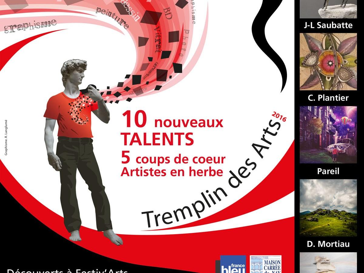 Affiche-Maison Carrée-expo Tremplin
