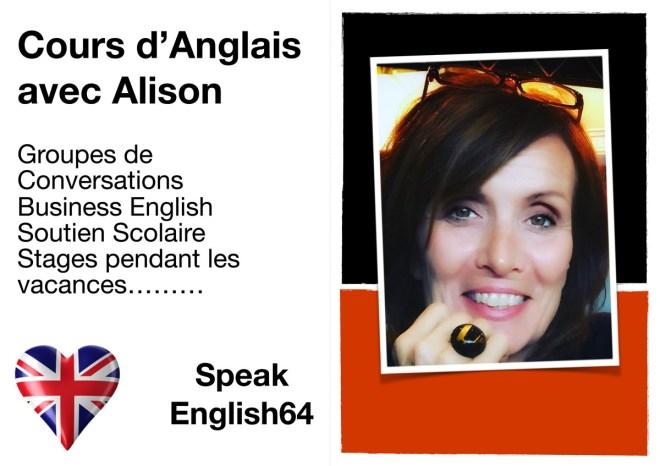 Cours d'Anglais avec Alison