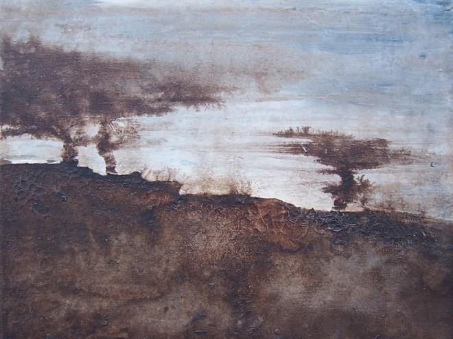 SOUFFLE (esprit nomade) Acrylique encre (30*30cm)(2016)