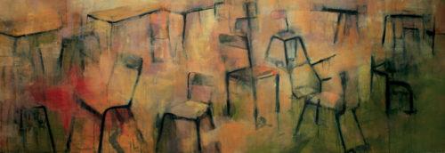 CHAISES - Acrylique sur toile (150*50cm) (2012)