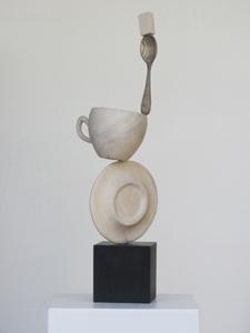 CAFÉ TRÈS FORT - Sculpture bois (330x80x80cm) 2017