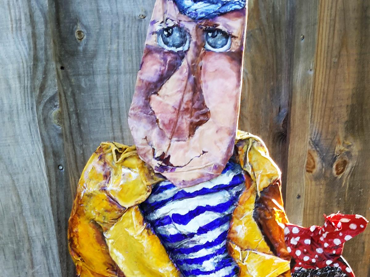 ANSELME - Recyclage, peinture (97*40cm) (2016)