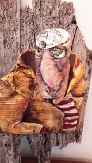 RAYMOND - Recyclage, peinture (60*50cm) (2016)