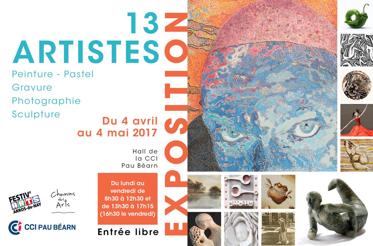 du 4 avril au 4 mai 2017 : un avant-goût de Festiv'Arts à la CCi de Pau