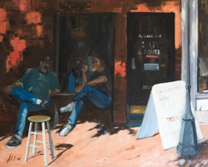 SIESTE à FREDERICKSBURG - Huile sur toile (90x110) 2005