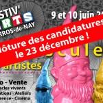 Attention, clôture des candidatures Festiv'Arts dans 2 jours!