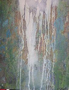 AMAZONIE - glycero sable acrylique encre de chine (40x50cm) 2019
