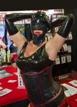 custom black latex mask from Fetisso Rubber Clothing