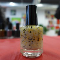 Black and Gold Glitter Glow in the Dark Topcoat